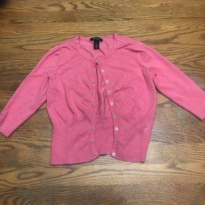 White House Black Market Pink Cardigan